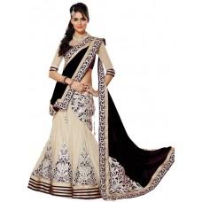 Puffin Fashion Self Design Lehenga, Choli and Dupatta